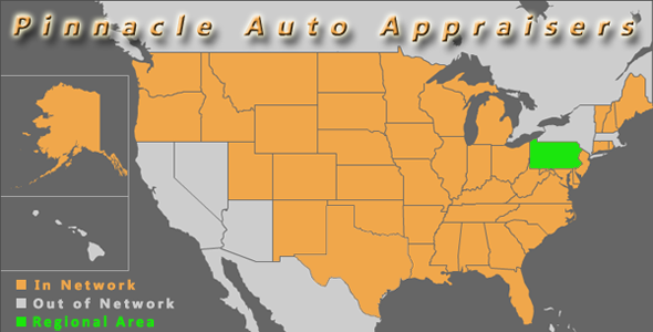 map pennsylvania philadelphia pinnacle auto appraisal appraiser diminished value inspection