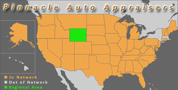 map wyoming pinnacle auto appraisal appraiser diminished value inspection